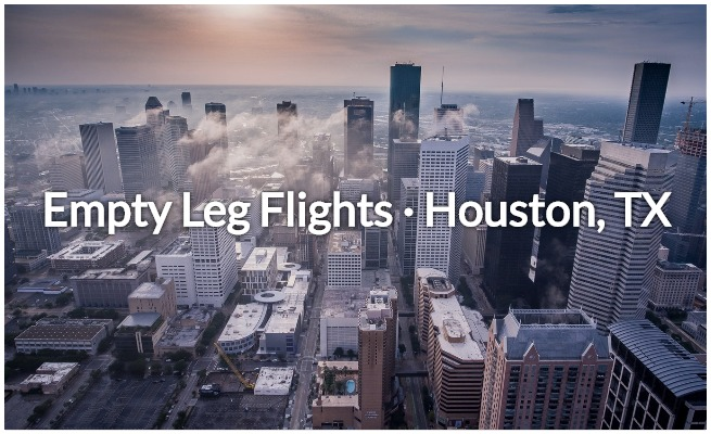 Houston empty leg flights